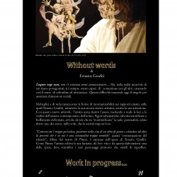 PRESENTAZIONE WITHOUT WORDS di ERNESTO GRADITI